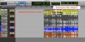 Distractive Recording
